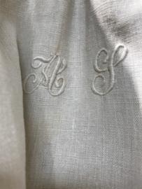 Linnen nachthemd met monogram