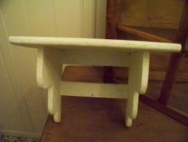Witte houten console