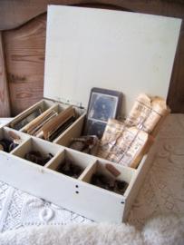 Oude houten geldkist