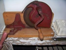 Brocante brood/vleeswaren-snijmachine