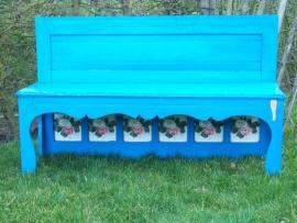 Blauw kinderbankje