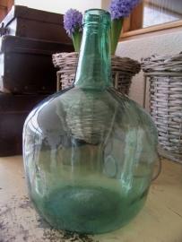 Groene glazen fles