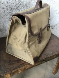 Oude canvas tas