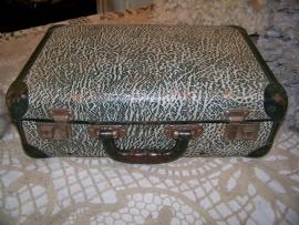 Groen gemarmerd koffertje