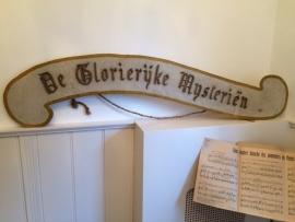 """Groot Processie bord """"De Glorierijke Mysteriën"""""""