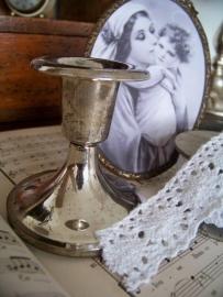 Zilveren kandelaartje
