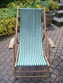 Brocante oude strandstoel