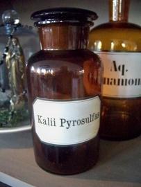 Apothekersfles Kalii Pyrosulfas
