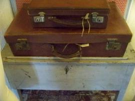 Leren koffer