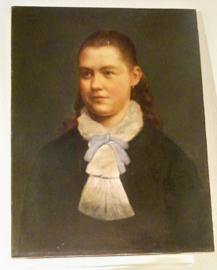 Oud portret van een meisje