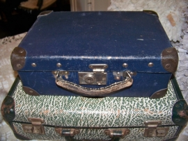 Klein blauw koffertje