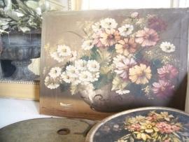 Oud bloemenschilderij