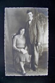 Kabinetfoto van een echtpaar