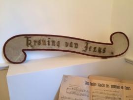 """Klein processie bord """"Kroning van Jezus"""""""