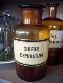 Apothekerfles Sulfur Depuratum