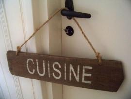 """Houten bord """"Cuisine"""""""