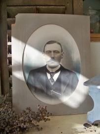 Portretfoto in Passepartout