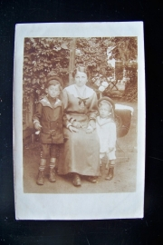 Familiefoto in de tuin