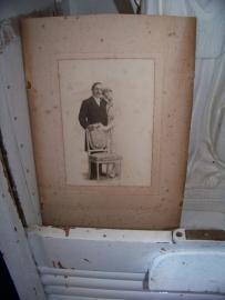 Oude foto van een bruidspaar