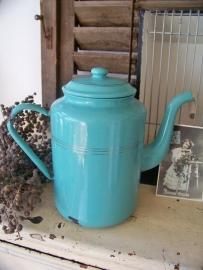 Mintgroene koffiepot