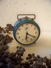 Brocante blauw wekkertje
