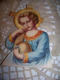 Staande kaart van Jezus...
