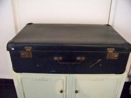 Groot blauw koffer