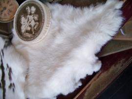 Wit konijnenvachtje