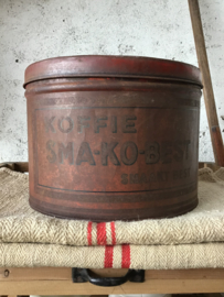 Oud koffieblik SMA-KO-BEST