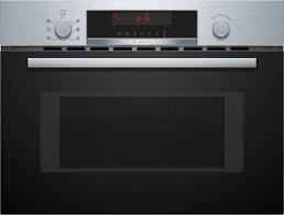 Bosch Compacte inbouw combi-magnetronoven met grill - Zwart RVS