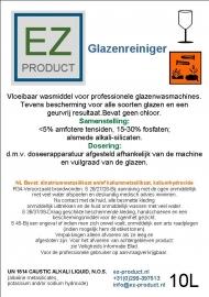 Glazenreinger 10 liter pakket 2x10 liter jerrycan