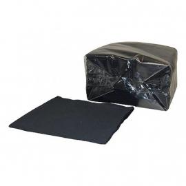 Servet 33x33 2000 stuks zwart 2 laags 1/4 vouw