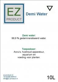 Demi water 10 liter jerrycan