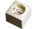Perilex opbouw 16 amp. wit + montageplaat