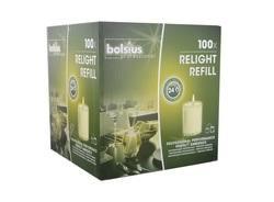 Refill Bolsius 100 stuks Transparant