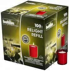 Refill Bolsius 100 stuks Rood