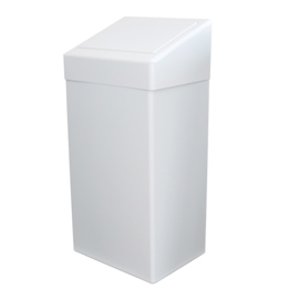 Afvalbak wit metaal 50 liter