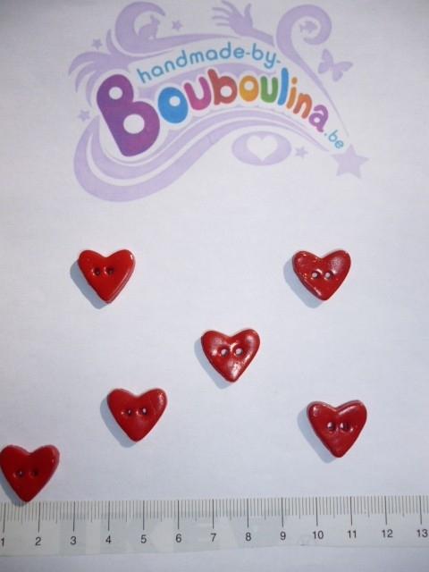Hart rood met glitter - klein