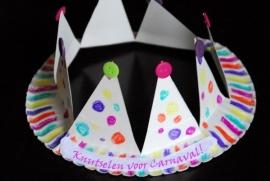 Carnavals kroon knutselen - 11 februari 2015