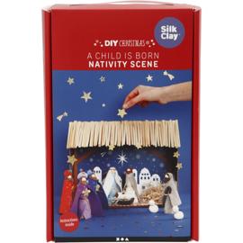 Knutselpakket kerststal* Er is een kindeke geboren * 1 persoon