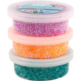 Foam Clay, groen, paars, neon oranje, 3x14gr