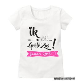 Grote Zus-shirt met datum