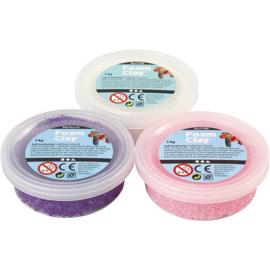 Foam Clay, paars, roze, wit, 3x14gr