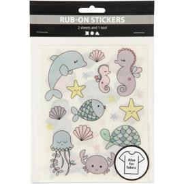 Rub-on Sticker - oceaan