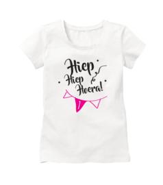 Hiep hiep hoera verjaardag shirt met 1 (of 2 of 3 etc.) jaar