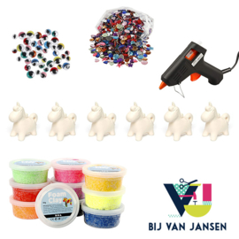 Knutselpakket * Foam Clay eenhoorn / unicorn! * vanaf 6 kids
