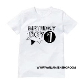 Birthday Boy - verjaardag shirt met 1 (of 2 of 3 etc.) jaar