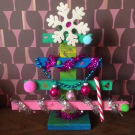 Knutselpakket * Kerstboompjes timmeren! * vanaf 6 kids