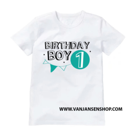 Birthday Girl - verjaardag shirt met 1 (of 2 of 3 etc.) jaar