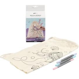 Knutselpakket * Magische zeemeermin rugzak * vanaf 6 kids